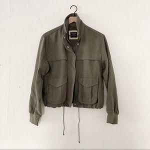 Abercrombie & Fitch Green Women's Jacket Size S